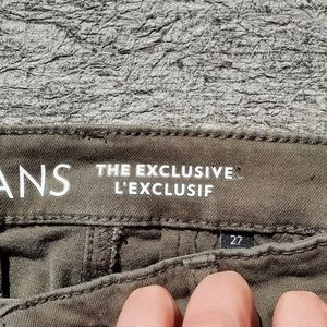 RJeans green skinny cargos size 27
